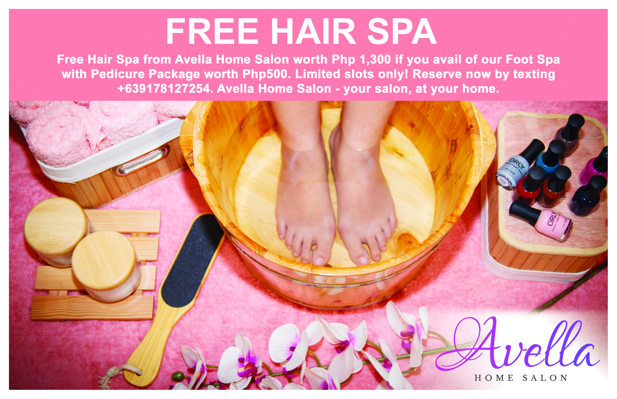 Free Hair Spa from Avella Home Salon